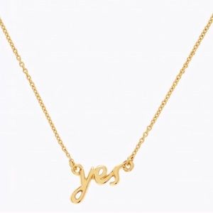 "Kate Spade ""Yes"" Necklace"